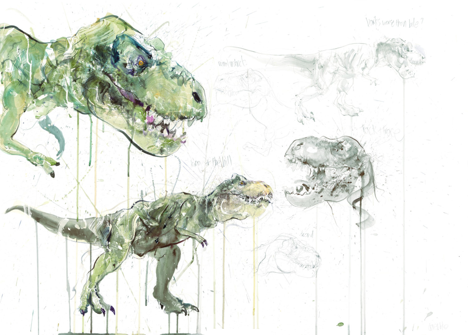 T Rex Study - Unique Hand finished
