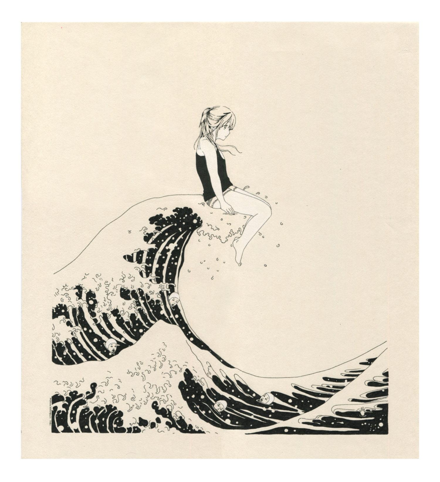 The Wave (after Hokusai)