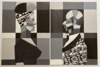 Woman and Man in Grayscale Diptych