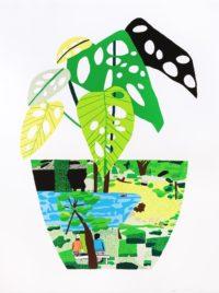 Landscape Pot with Plant
