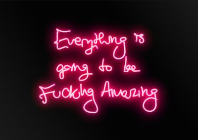 Fucking Amazing (Pink on Black) Artist Proof - Neon