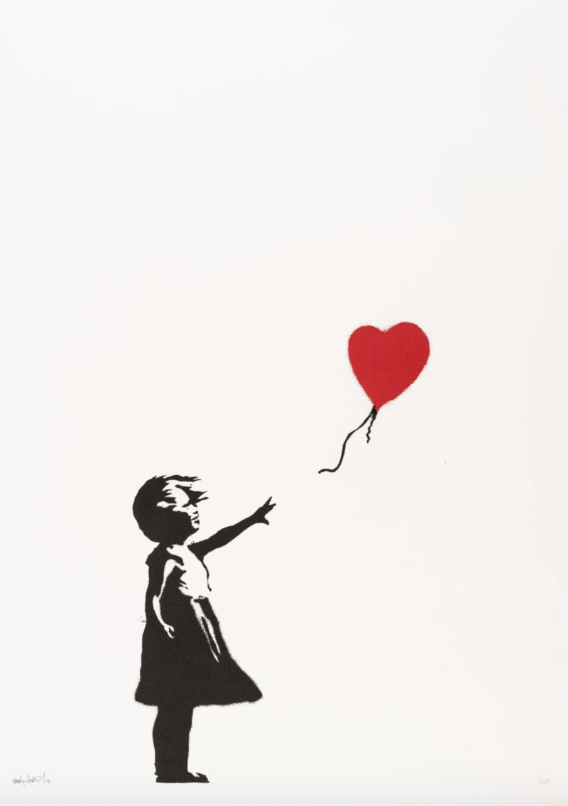 Girl With Balloon - Signed