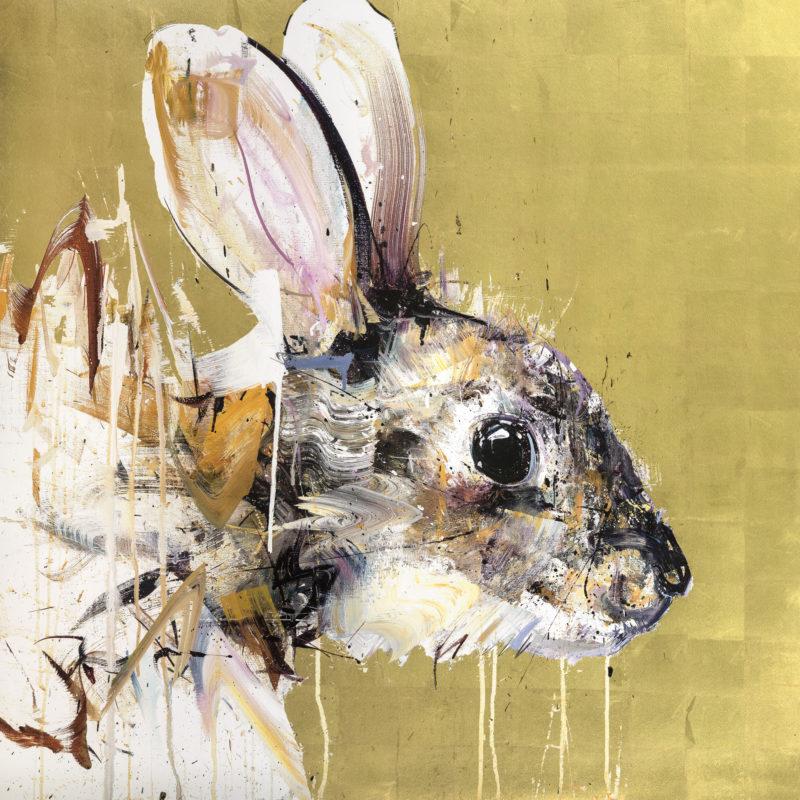 Rabbit - Gold leaf