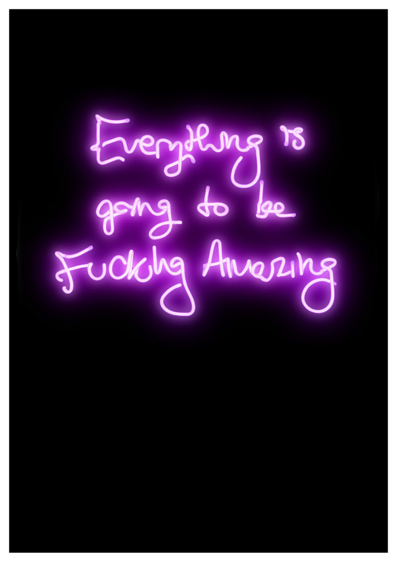 Fucking Amazing (Purple) - Artist proof