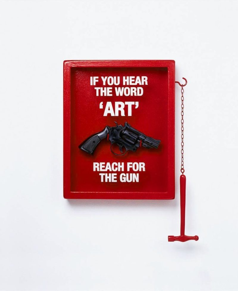 If You Hear the Word Art Reach for the Gun