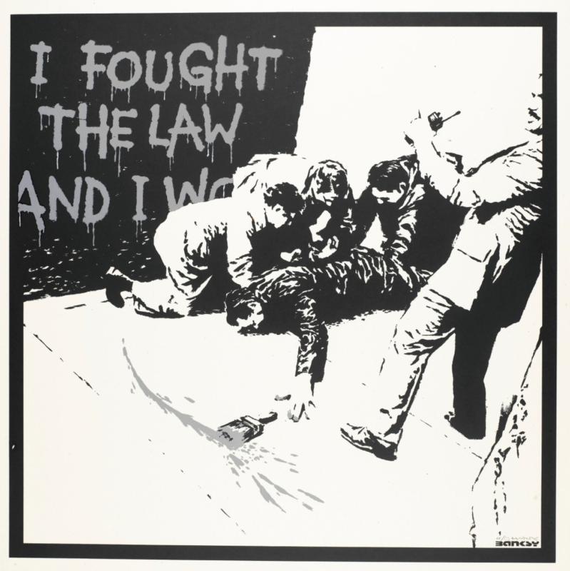 300pc Printed Signature Number to pencil AU Banksy Bomb Hugger Ed
