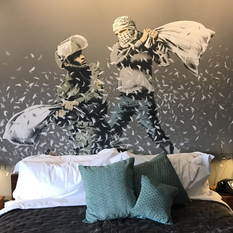Banksy Opens the 'Walled Off Hotel' in Bethlehem