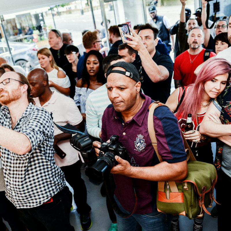 The Art of DMC Exhibition Launch by Darryl DMC McDaniels at East London's Hang-Up Gallery
