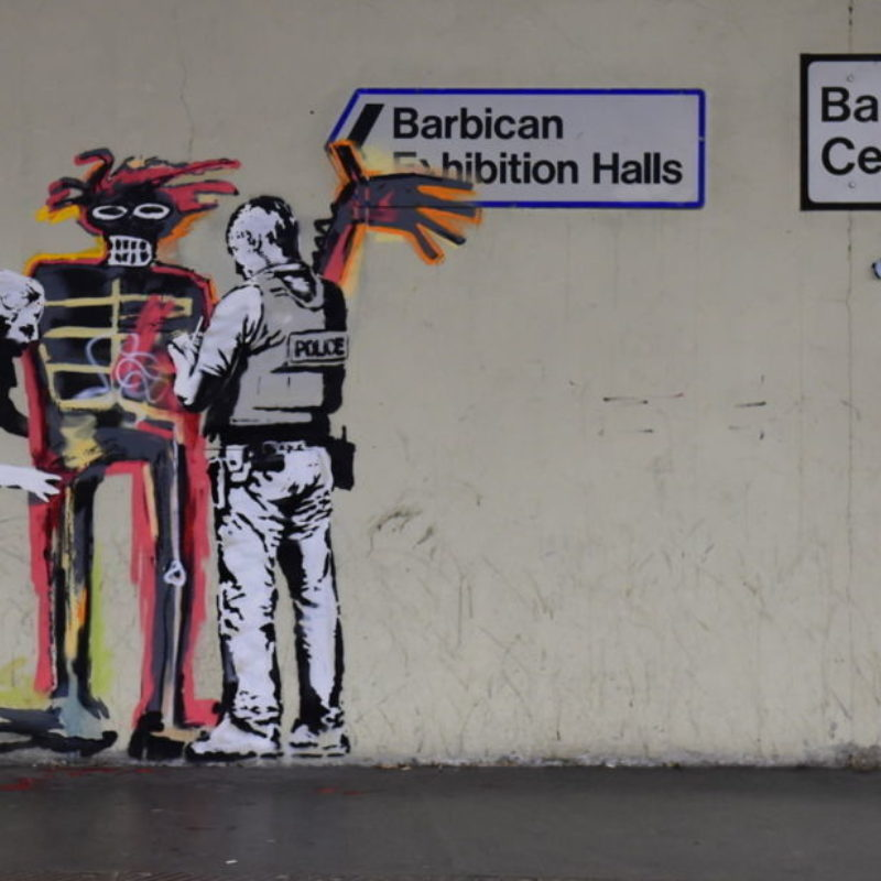 New Banksy Murals Pop Up In London Ahead of Basquiat Exhibition at Barbican