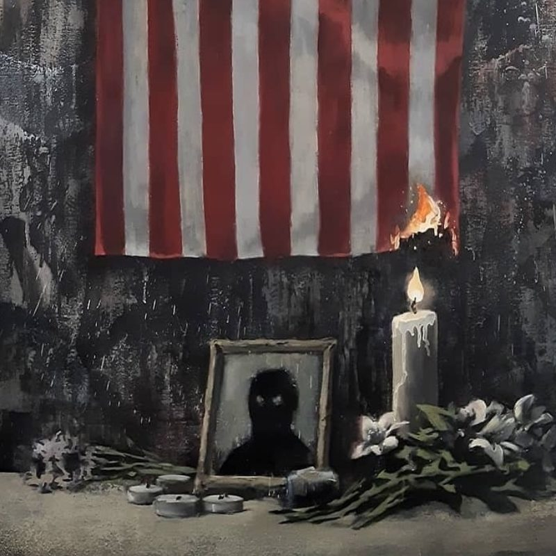 Banksy's Latest Work In Support of Black Lives Matter