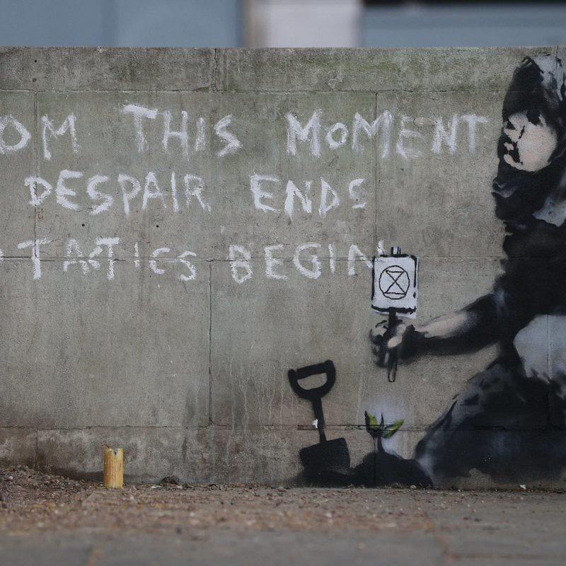 Suspected New Banksy Mural Appears In London