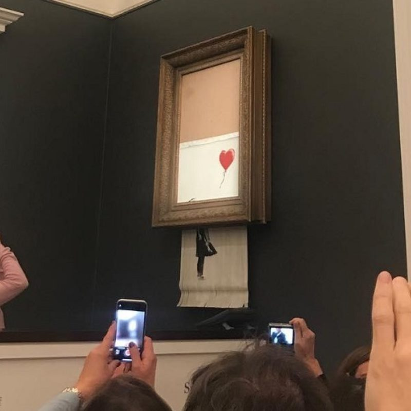"""""""We've been Banksy-ed"""" 