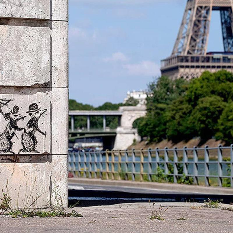 Banksy Rats Roam Streets of Paris