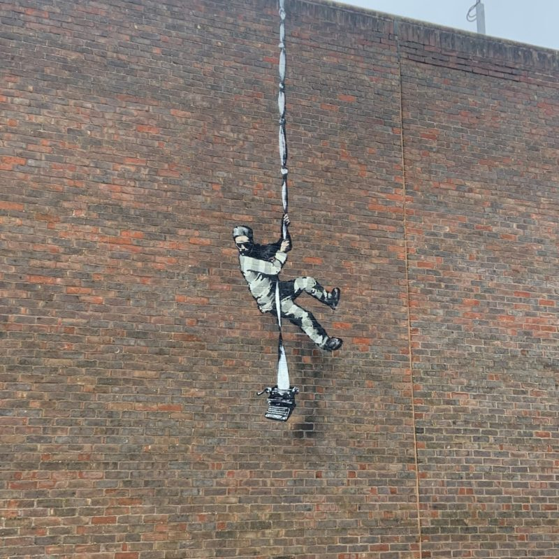 Banksy Confirms Latest Piece at Reading Prison