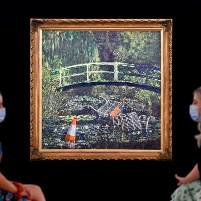 Banksy's 'Show Me the Monet' Is Headed to Auction