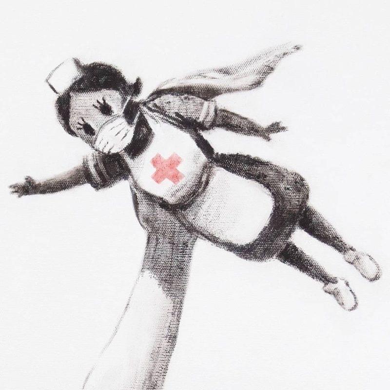 Bansky Donates Artwork to Southampton Hospital