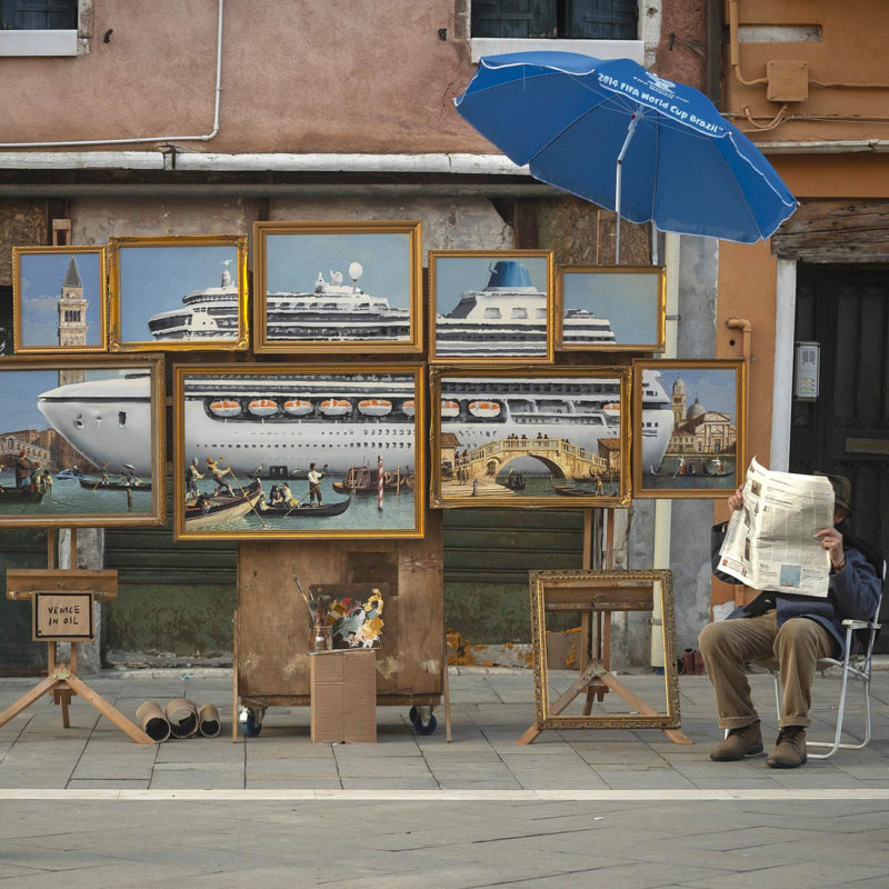 Banksy Crashes the Venice Biennale