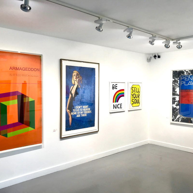 TYPE Exhibition Private View   Harland Miller, David Shrigley, The Connor Brothers and Banksy