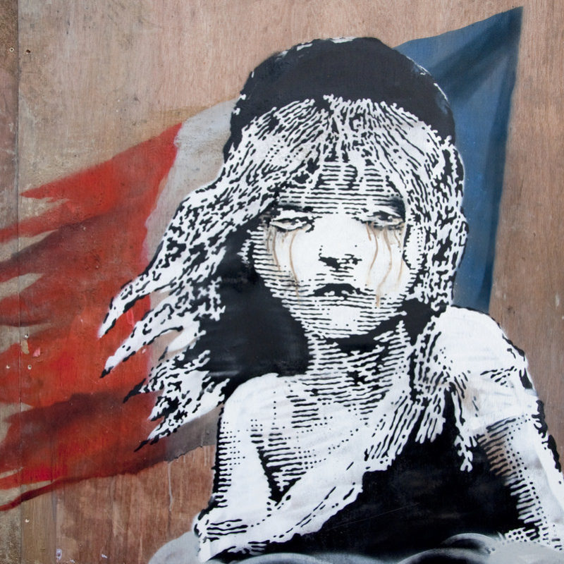 New Banksy Outside French Embassy in London