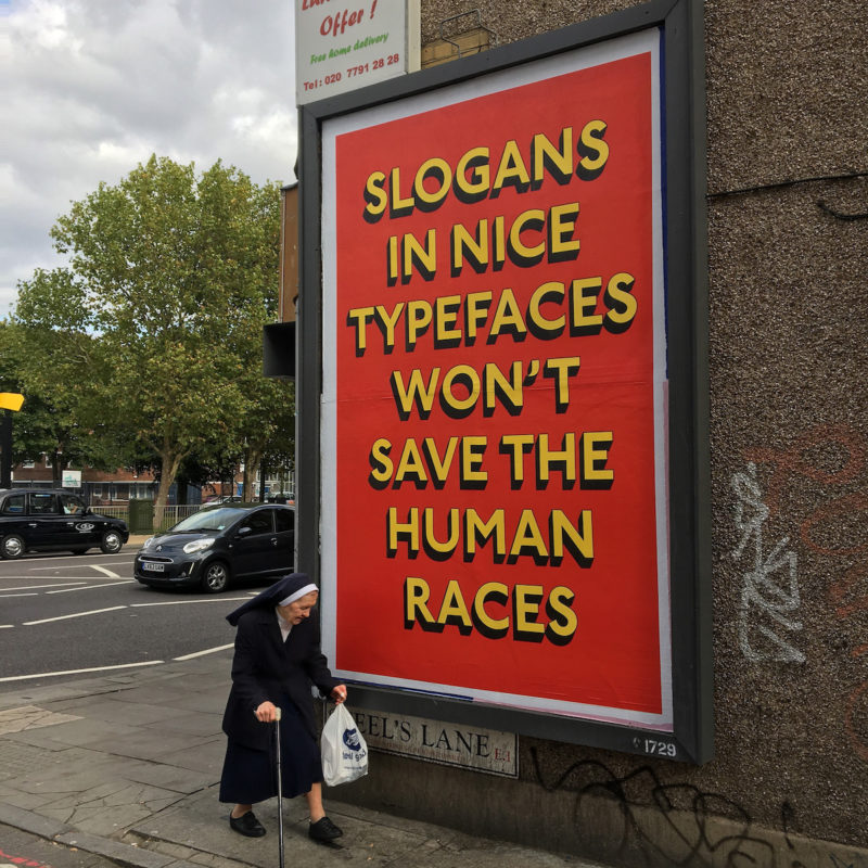 Oddly Head teams up with Flying Leaps for SLOGANS poster campaign