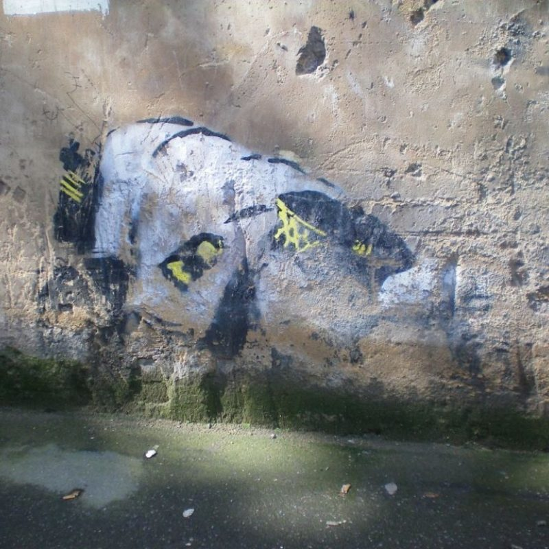 Banksy's Snorting Copper Rediscovered Over A Decade Later in East London