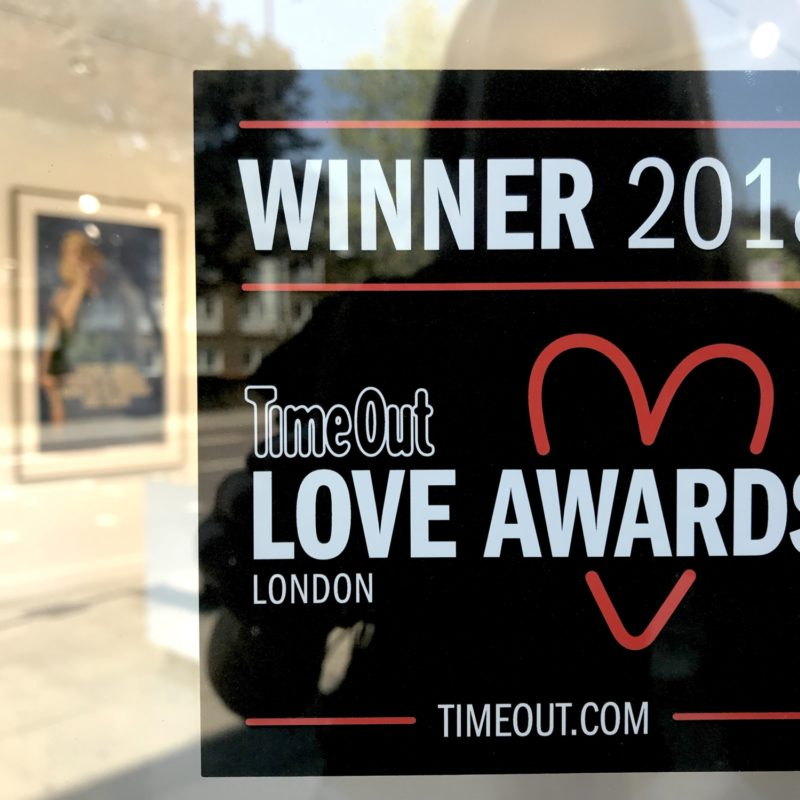 Hang-Up Gallery Wins TimeOut Love London Award 2018 for 'Favourite Local Culture Spot'
